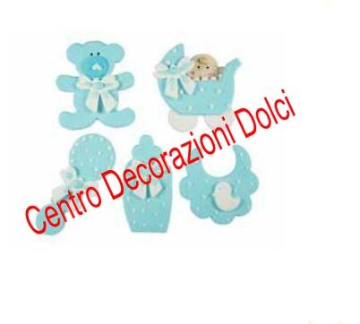 Baby nursery celeste 5 pz.
