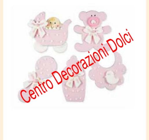 Baby nursery rosa 5 pz.