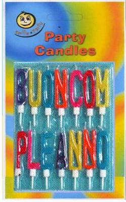 Candele buon compleanno a lettere