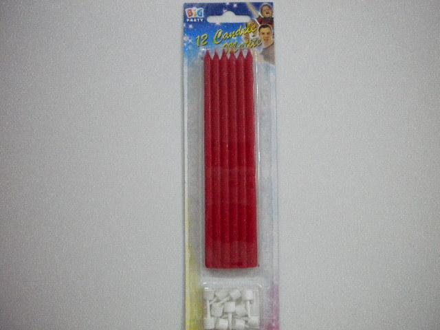 Candeline matite rosse