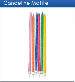 Candeline matite glitter assortite