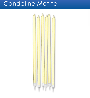 Candeline matite glitter avorio