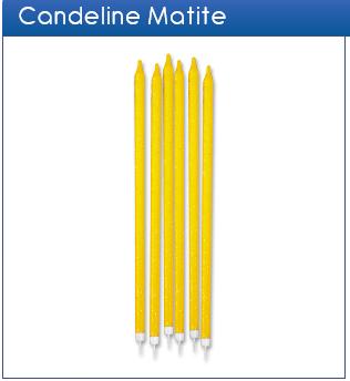 Candeline matite glitter giallo