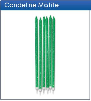 Candeline matite glitter verde
