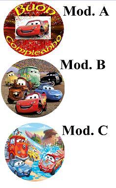 Cialda Cars cm. 21