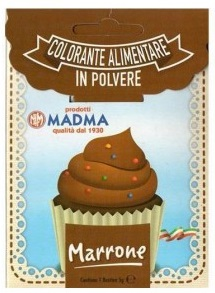 Colorante in polvere marrone