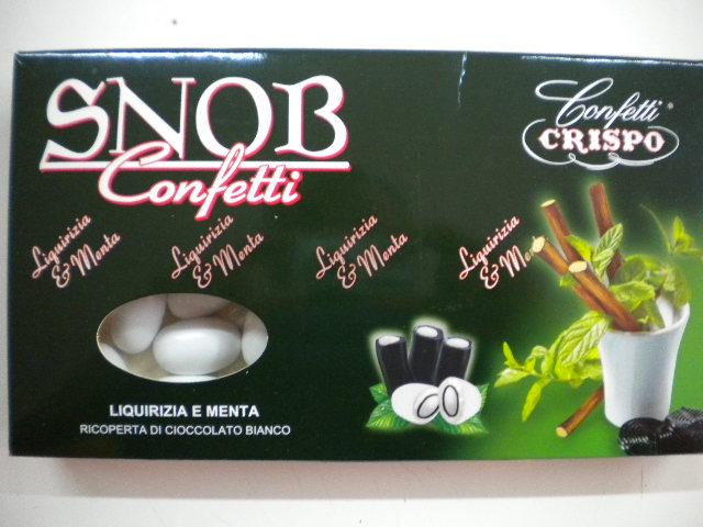 Confetti snob a liquirizia e menta