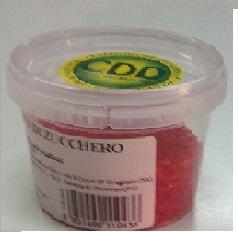 Cristalli di zucchero rosso