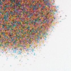 Cristalli di zucchero colorati