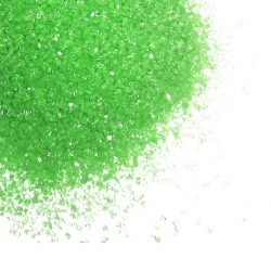 Cristalli di zucchero verde
