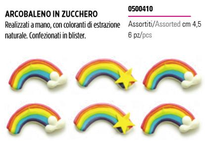 Decorazioni arcobaleno in zucchero