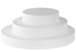 Disco polistirolo Ø 30x5h cm.