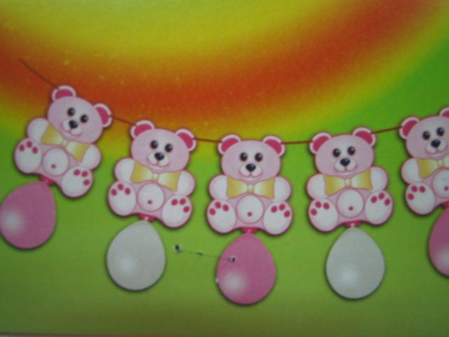 Festoni orsetto rosa