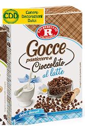 Gocce di cioccolato a latte Rebecchi