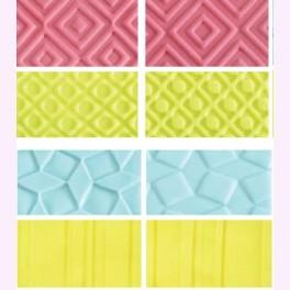 Kit 4 fogli decorativi effetto geometrico