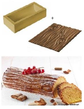 Kit stampo in silicone effetto legno