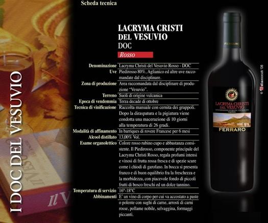 LACRYMA CRISTI ROSSO D.O.C.