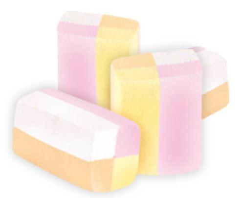Marshmallow gomma bianco e arancio