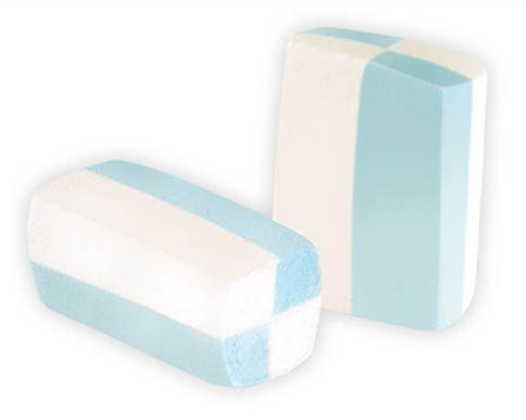 Marshmallow gomma bianco e azzurro