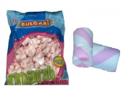 Marshmallow tubo bianco e rosa