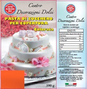 Pasta di zucchero 500 gr. arancio