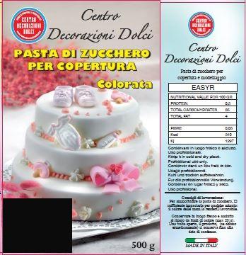 Pasta di zucchero 500 gr. nero