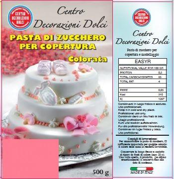 Pasta di zucchero 500 gr. rosa