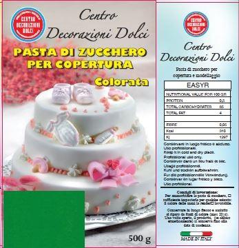 Pasta di zucchero 500 gr. verde scuro