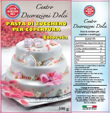 Pasta di zucchero 500 gr. fucsia