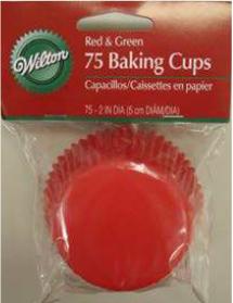 Pirottini muffin rossi e verdi