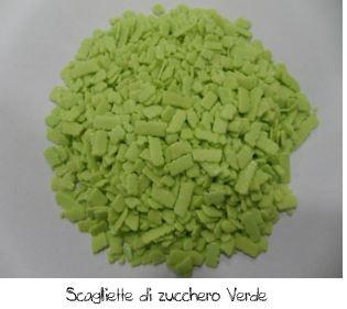 Scaglietta di zucchero verde