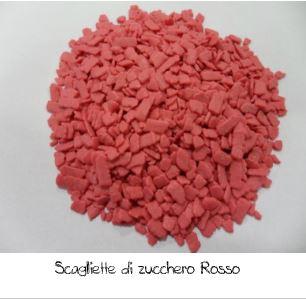 Scaglietta di zucchero rossa