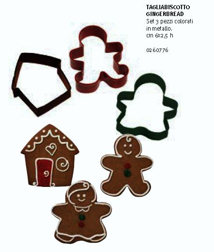 Set 3 tagliabiscotto gingerbread