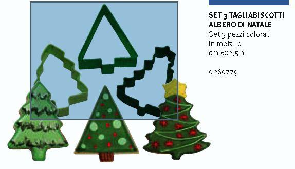 Set 3 tagliabiscotto albero di Natale