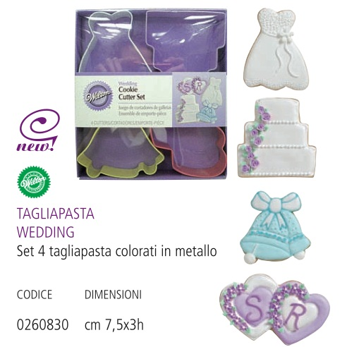 Set 4 tagliapasta wedding