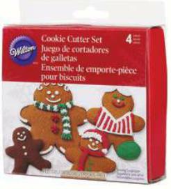 Set 4 tagliapasta gingerbread