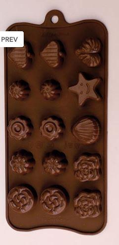 Stampo 15 cioccolatini marini