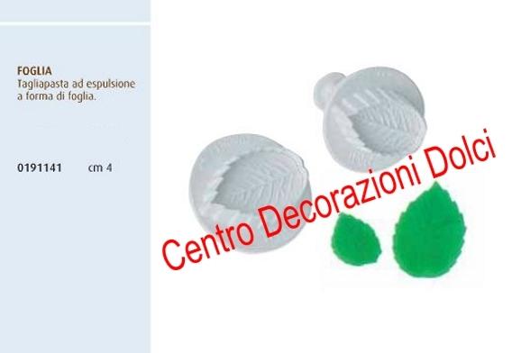 Stampo espulsione foglia cm. 4