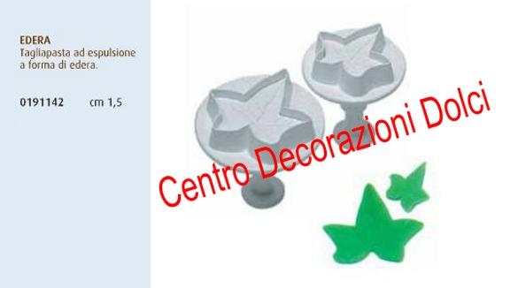 Stampo espulsione edera cm. 1,5