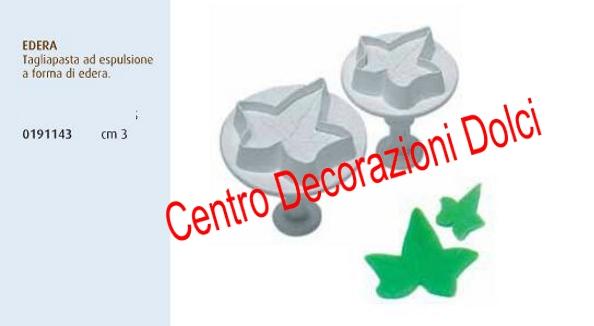Stampo espulsione edera cm. 3