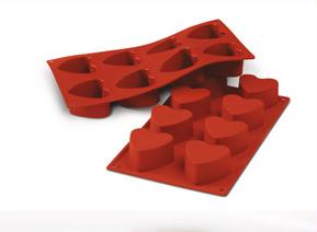 Stampo in silicone cuori