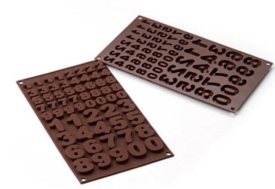 Stampo in silicone numeri