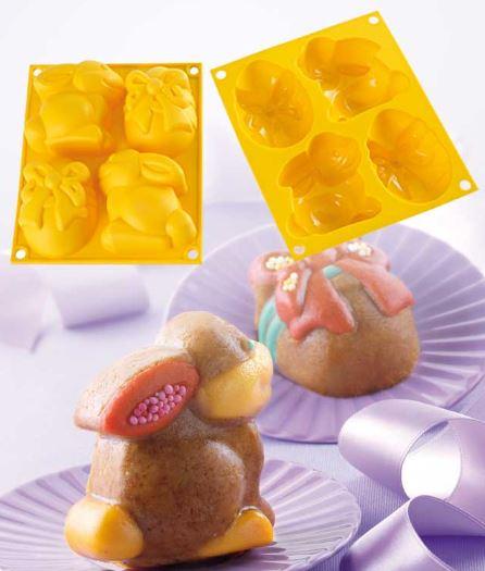 Stampo in silicone uova e coniglio