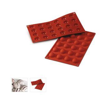 Stampo in silicone semisfere cm.3