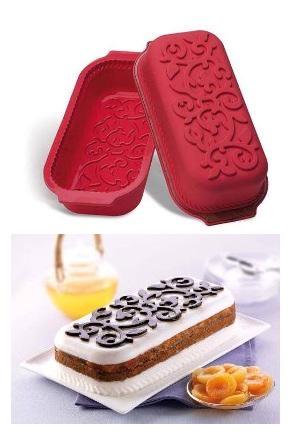Stampo in silicone plum cake decoro