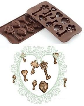 Stampo in silicone lucchetto-chiavi