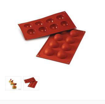 Stampo silicone semisfere cm. 5