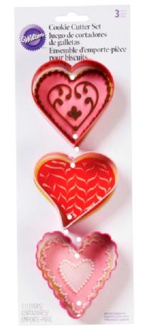 Tagliapasta cuore set 3 pezzi
