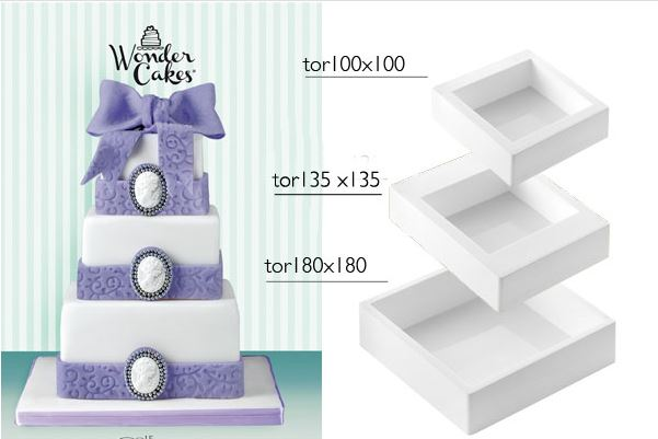 Wonder cake quadrato
